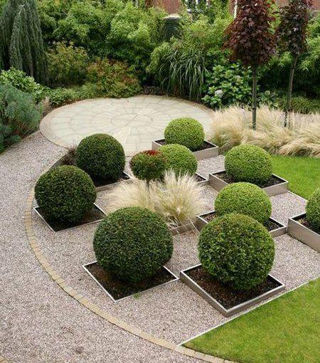 Triangular-Shaped Gardens | Garden design, Garden ...