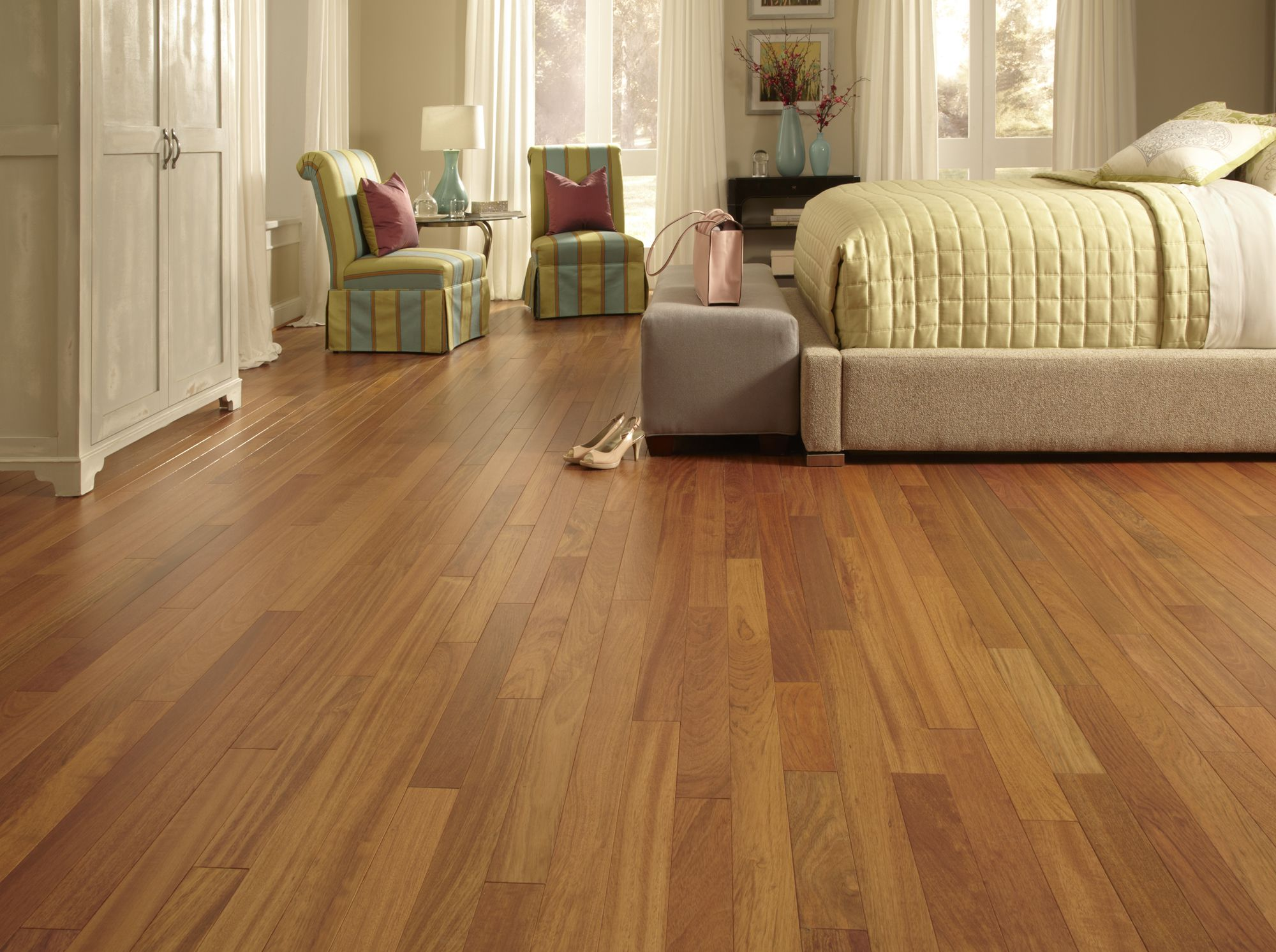 Matte Finished Floors Like Brazilian Cherry Bring European