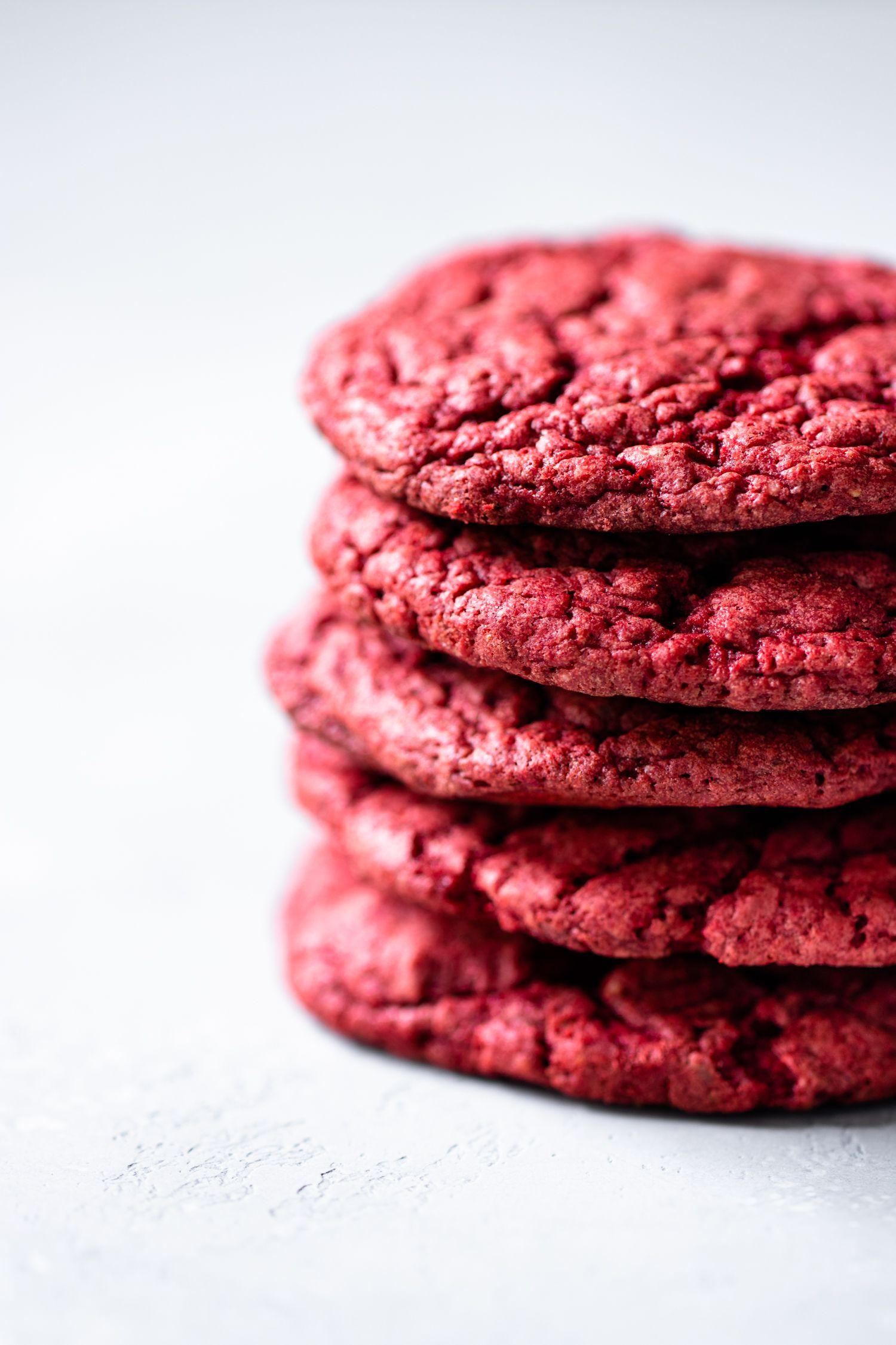 5 Ingredient Red Velvet Cookies Murielle Banackissa Red Velvet Cake Cookies Red Velvet Cookies Red Velvet Cake Mix Cookies