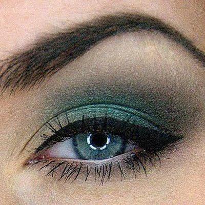 green tea  breathtaking look for blue  green eyes