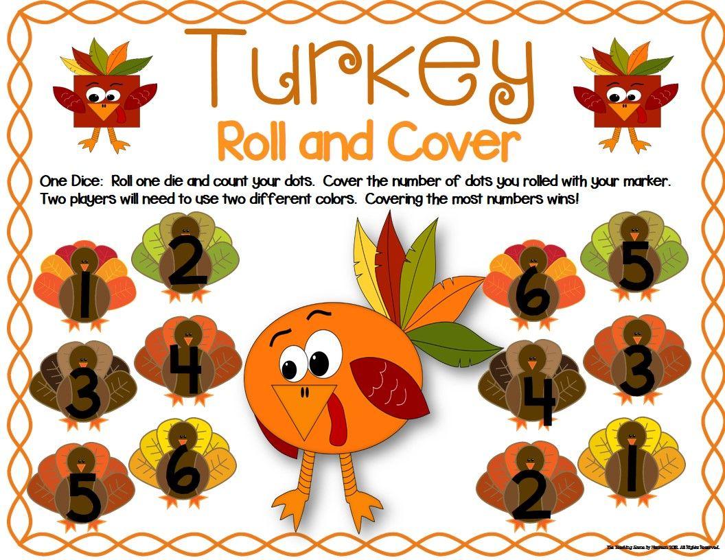 Turkey Math Center Dice Games