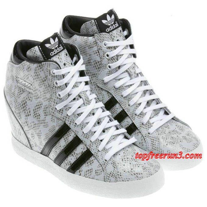 online store d18be 4b6e5 topfreerun3 com Save Up To 71%,63.38 Adidas Originals Basket Profi Up  Snakeskin Print Leather Wedge Heel Womens Raw White Black