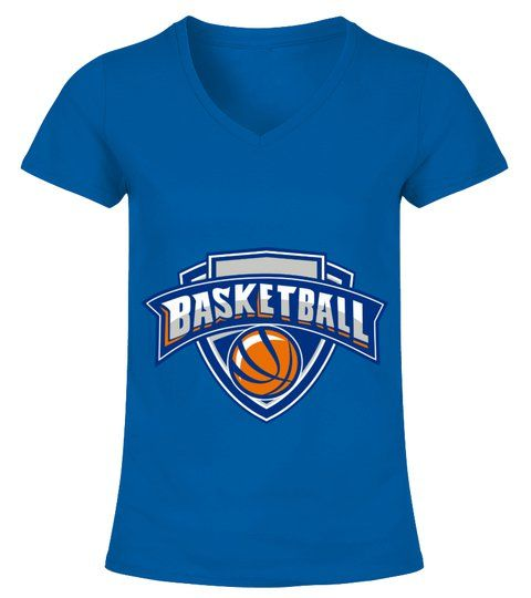 5e869d48d6b4 Basketball Ball Shield Text Retro - V-neck T-Shirt Woman  Shirts   OtherTshirt