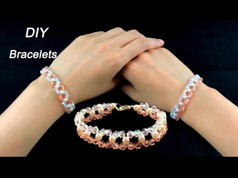 Easy DIY Crystal and Pearls Bracelets/ How to Make Beading Bracelets with  Crystal and Pearls - YouTube