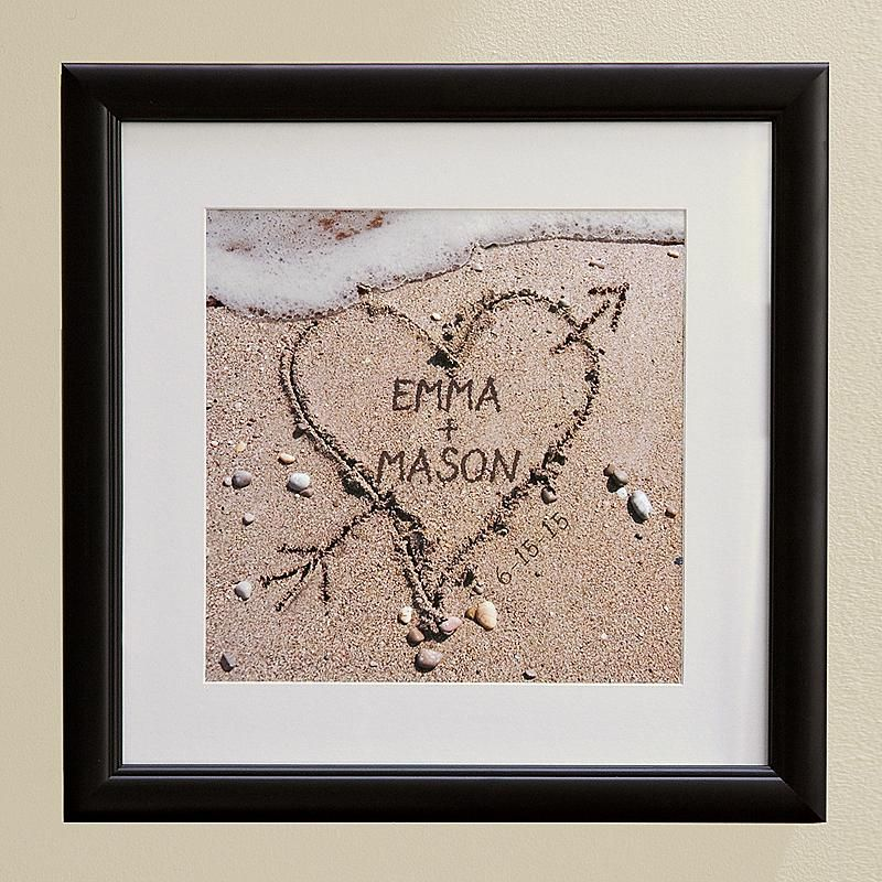 Heart In Sand Framed Print Personalized Gifts Personal Creations Personalized Wedding Gifts