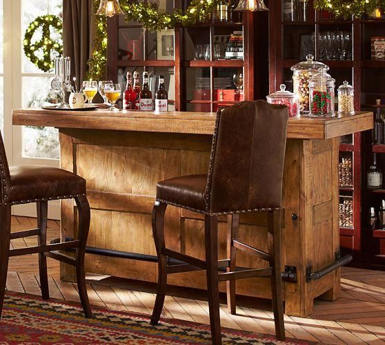 Rustic Ultimate Bar Large Pottery Barn Home Bar Designs