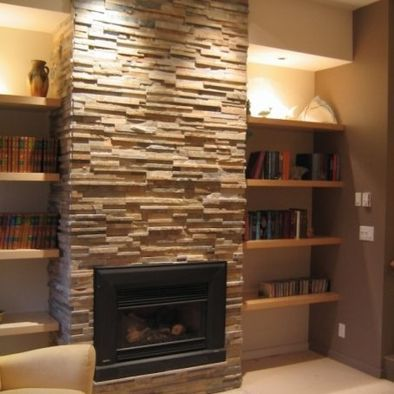 My Family Room Makeover Plan Floating Shelves On Both Recessed Walls On Each Side Of The Fireplace Lareiras Contemporaneas Bordas Da Lareira Design Da Lareira