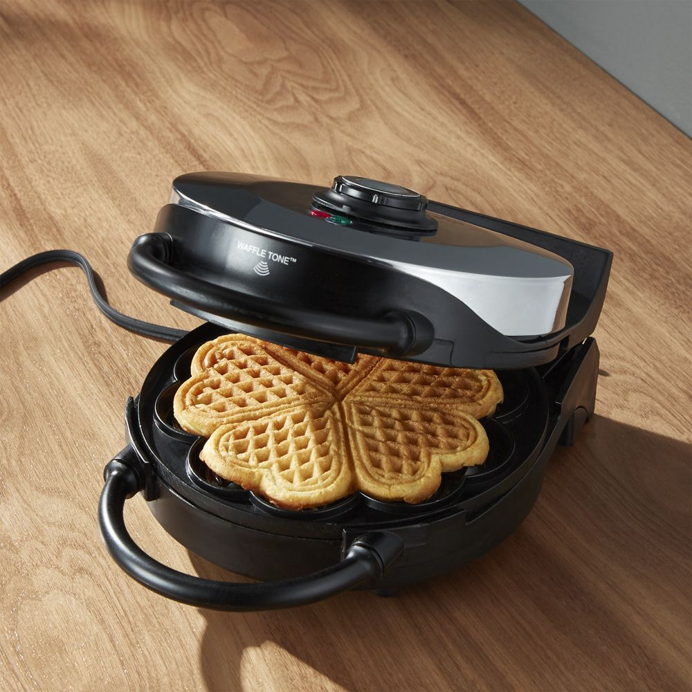 Cucinapro Waffle Cucinapro Heart Shaped Waffle Maker Crate And Barrel Products