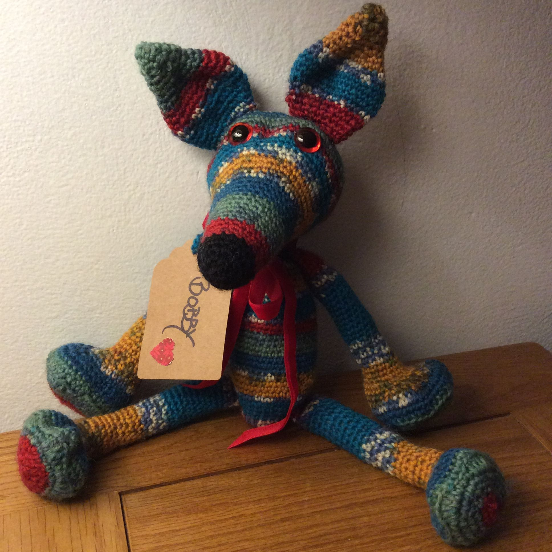Italian English Animsld: My Latest Crocheted Amigurumi Greyhound / Lurcher