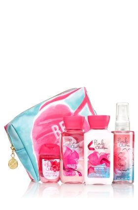 Pink Chiffon Be Happy Gift Set Bath Body Works Say Hello