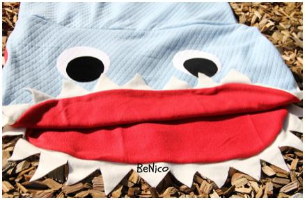 Hai Decke, Nähen, Hai Schlafsack, Shark, Blanket, Haidecke, Kuscheldecke,