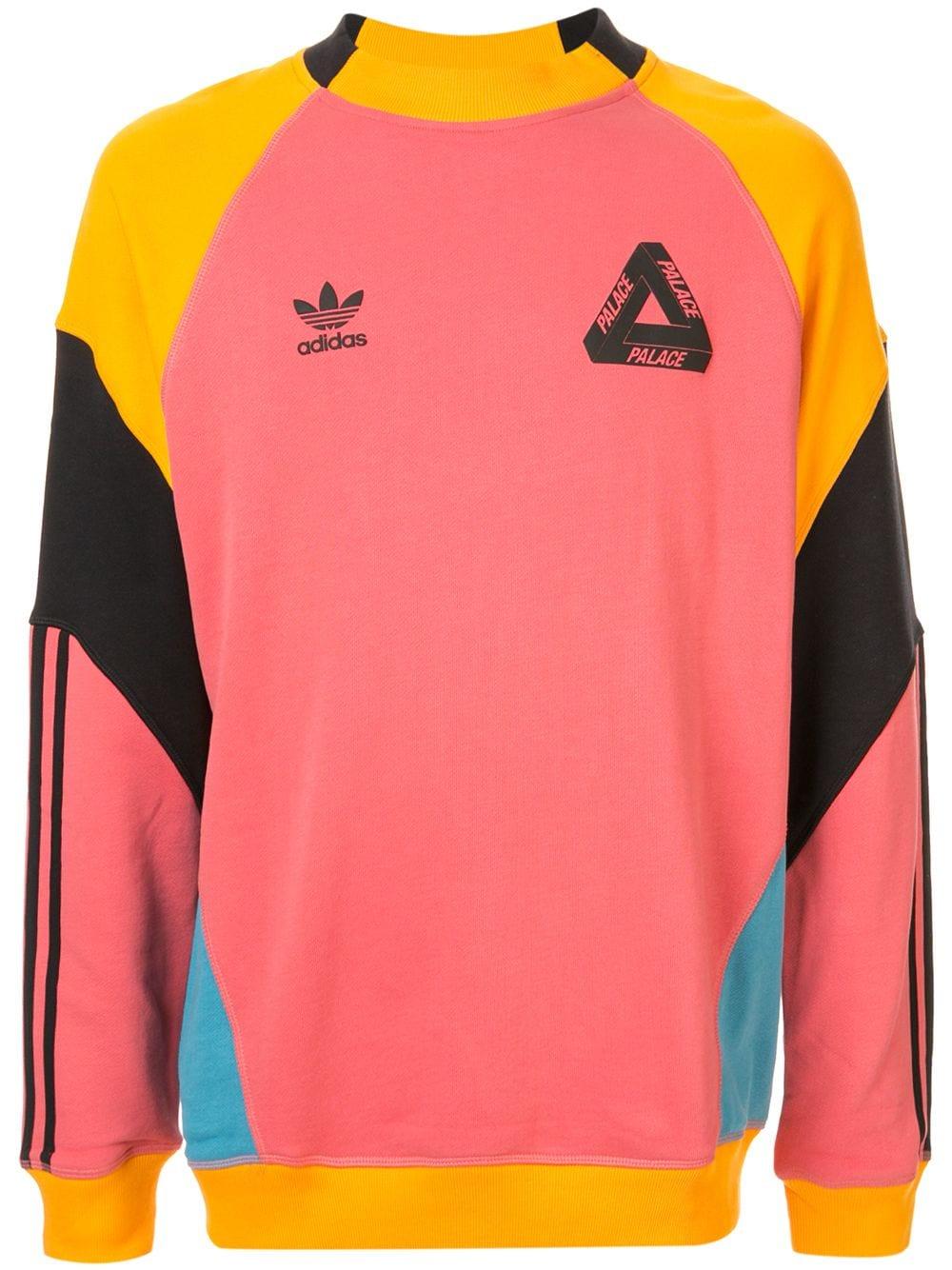 Palace X Adidas Crew Neck Sweatshirt Farfetch Adidas Crew Neck Palace Clothing Crew Neck Sweatshirt [ 1334 x 1000 Pixel ]