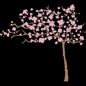 0ba8e35e8 Desenhos de árvores especiais para decoração  adesivo de parede Árvore  Cerejeira ao Vento