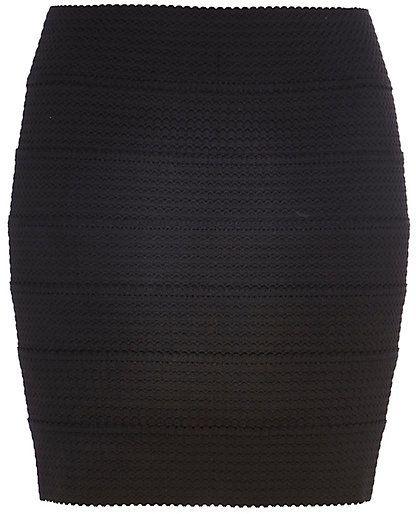 952c6a2ff River Island Womens Black bandage mini skirt on shopstyle.com ...