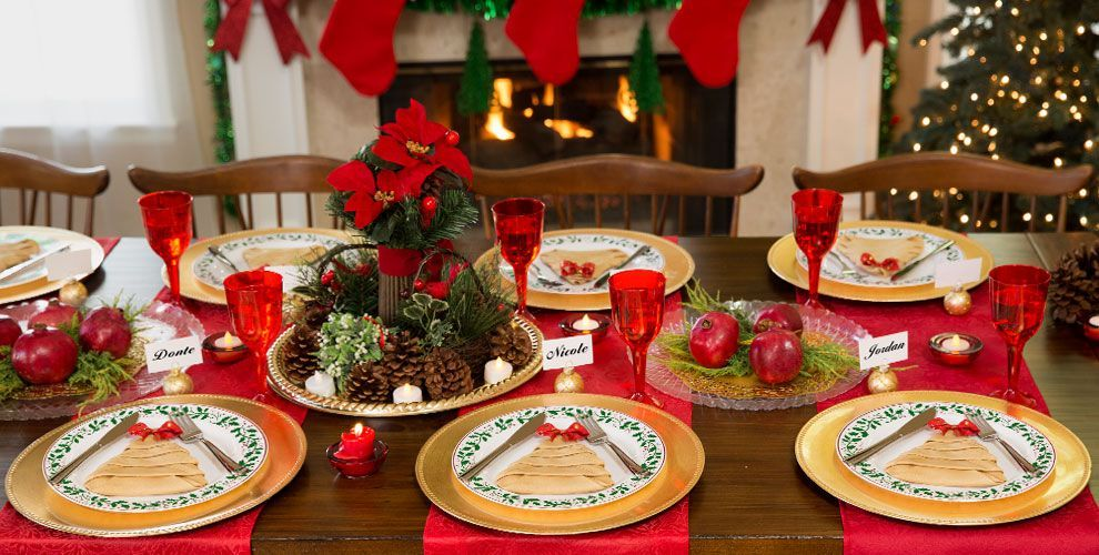 Premium Christmas Tableware 1 Classic Christmas Decorations Christmas Tableware Christmas Place Settings