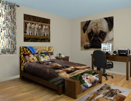 Puppy Wall Murals Everyone Loves The Cute Little Bundles Of Love Take A Look At Our Puppy Design Girl Bedroom Decor Bedroom Decor Wallpaper Bedroom
