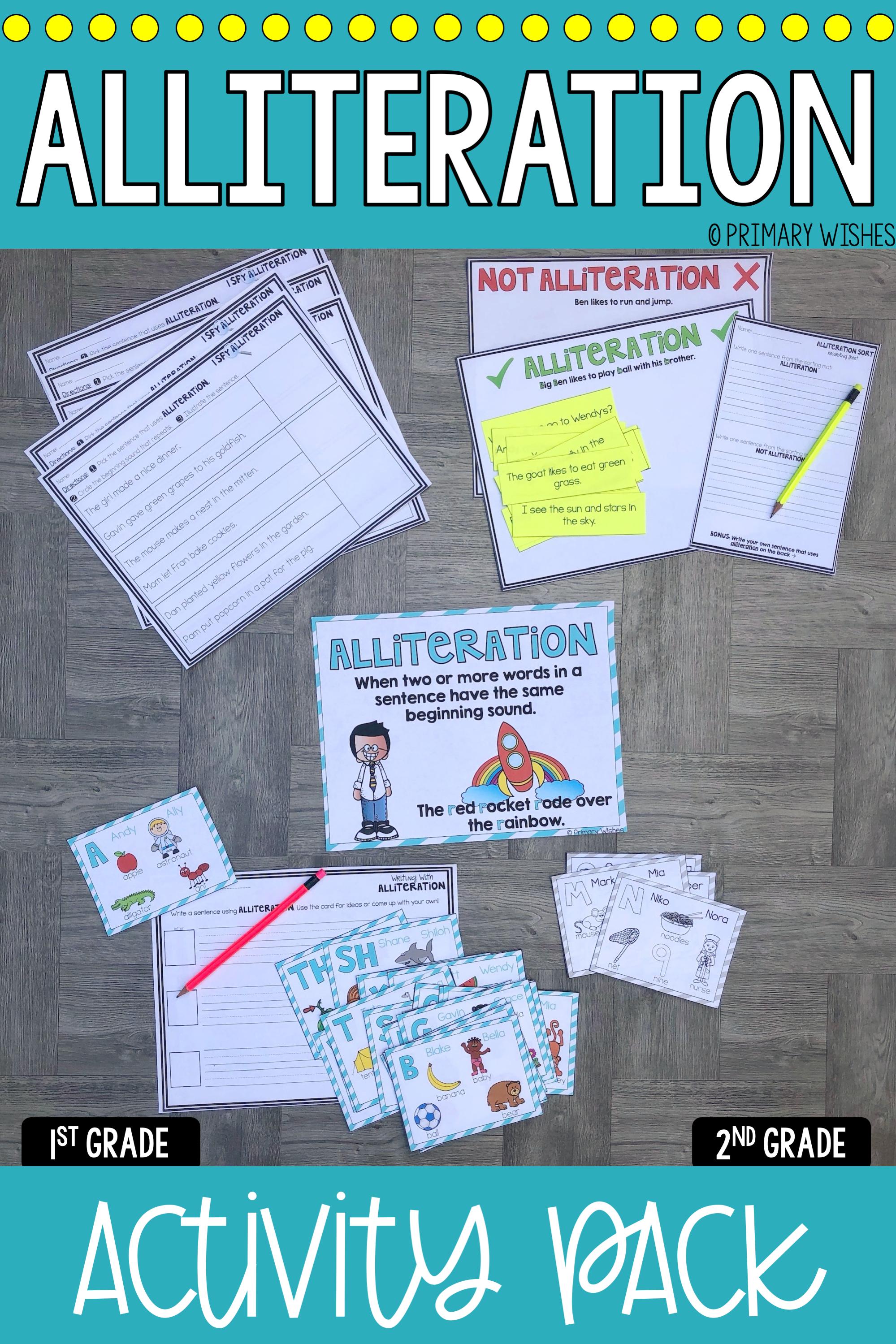 Alliteration Activities In