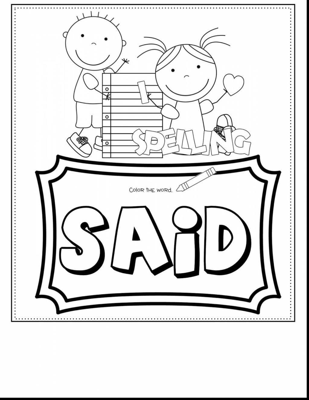 25 Inspired Photo Of Sight Word Coloring Pages