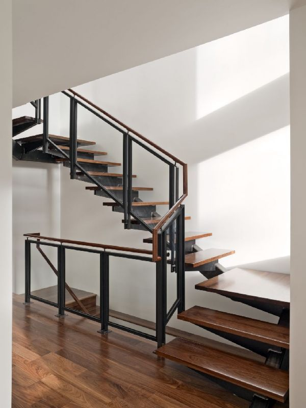 wooden staircase design ideas in minimalis bernal height
