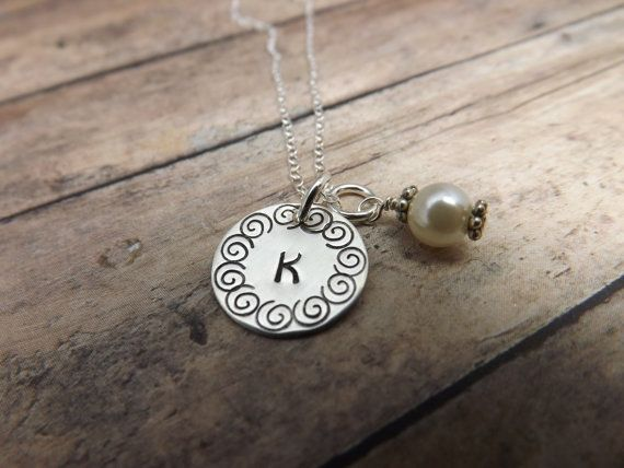 Hand stamped jewelrypersonalized by mybeadedbutterfly on Etsy, $25.00