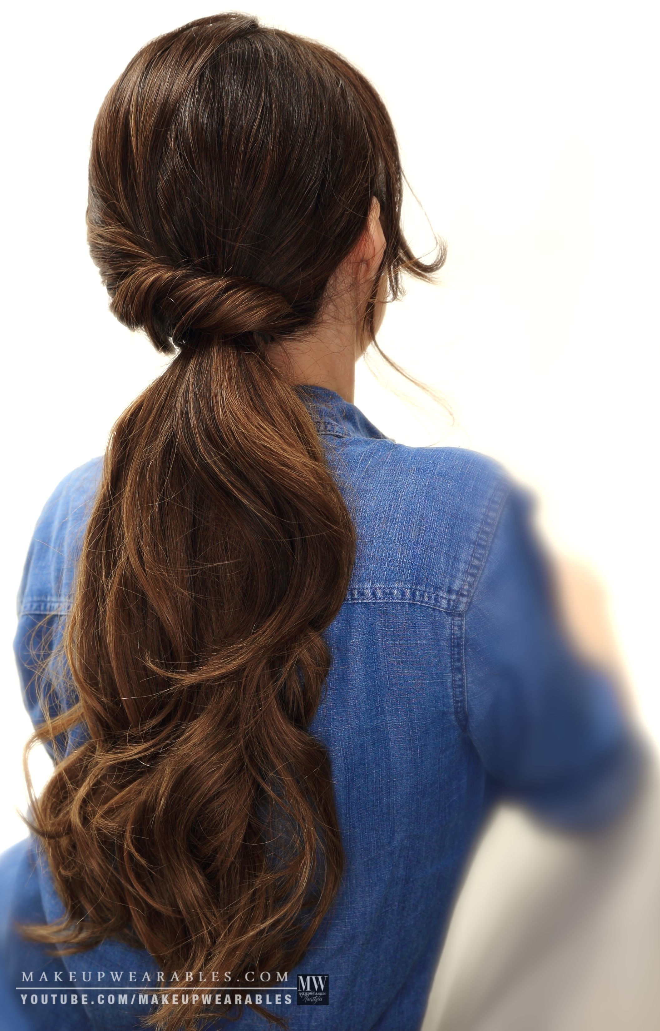 Elegant ponytail updo hairstyle for wedding prom homecoming everyday