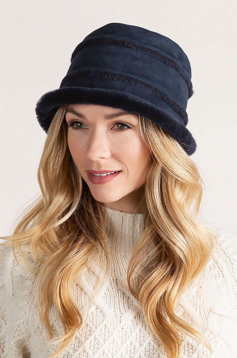 ba253e9e932320 Spanish Merino Sheepskin Cloche Hat in 2019 | Hats | Hats, Cloche ...
