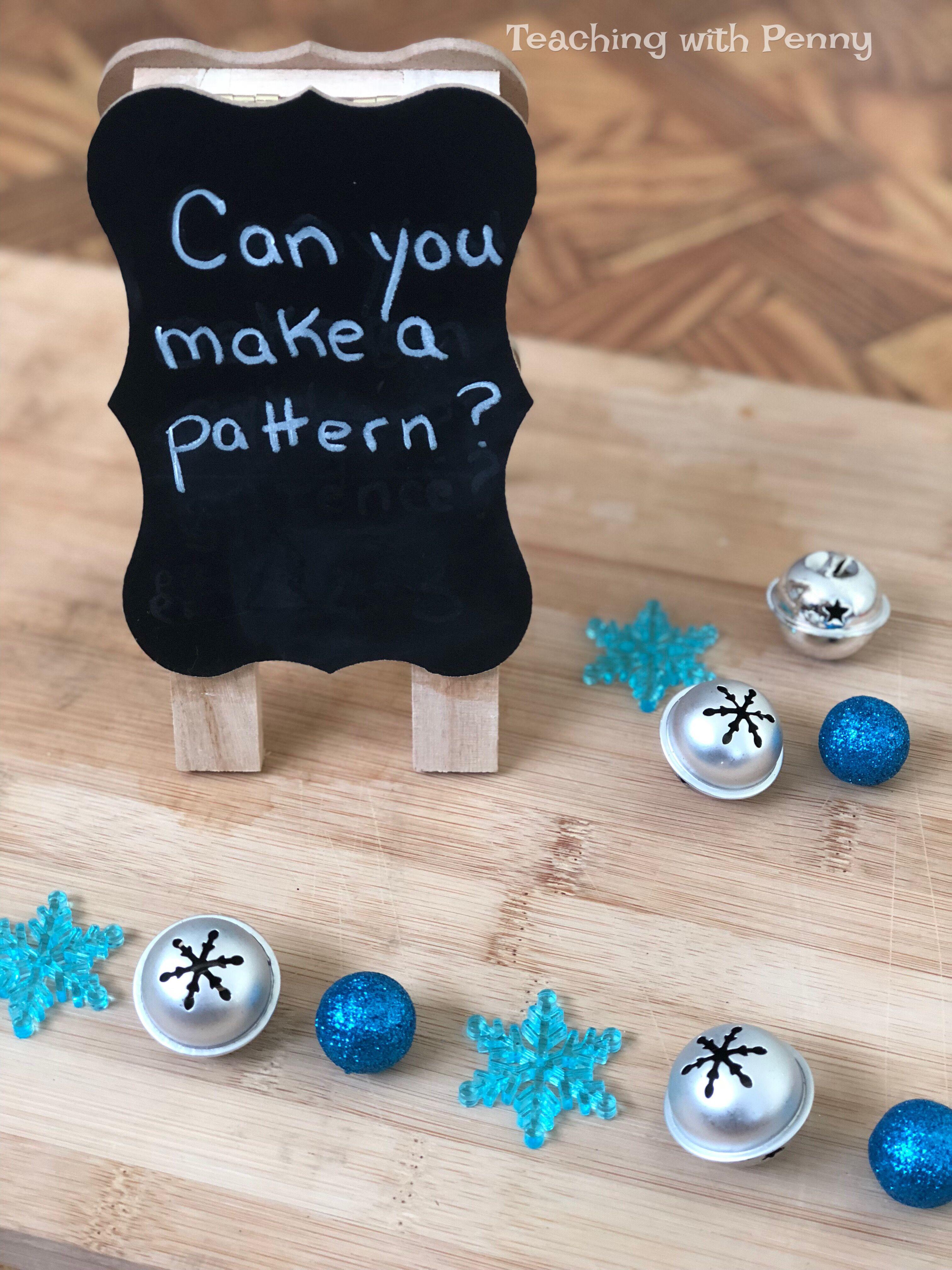 Kindergarten Winter Math Centers Patterning