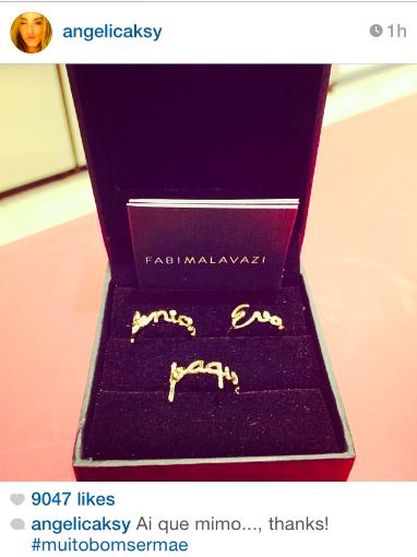 Angélica comemora o dia das mães com os anéis de nomes de seus filhos por Fabi Malavazi #fabimalavazi