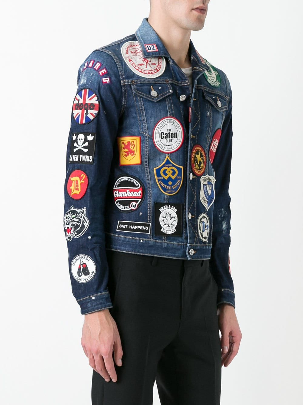 Dsquared2 patch detail jean jacket in 2020 Designer