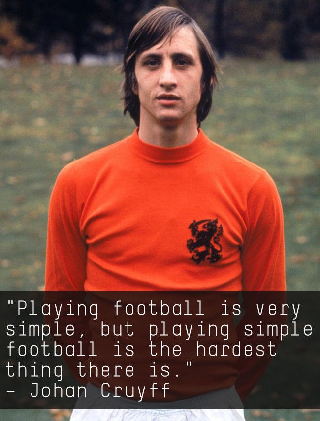 Citaten Johan Cruijff : A only can say expression of johan cruyff. jc14 johan cruijff