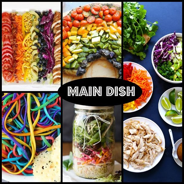 Lovely Main Course Dinner Party Ideas Part - 6: Main Course Food Ideas For A Rainbow Themed Birthday Party! (link Also Has  TONS