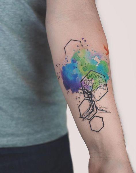 Photo of 59 idées pour les artistes de tatouage d'arbre géométrique