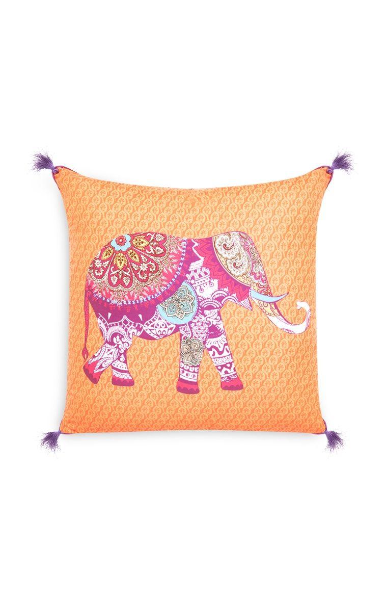 Primark - Orange Elephant Tassel Cushion