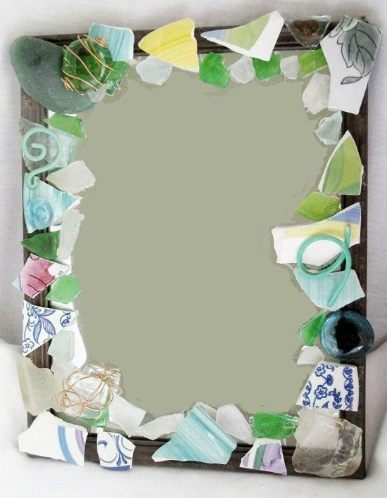Custom Made Mirror Art Recycled Glass Broken China Mirror