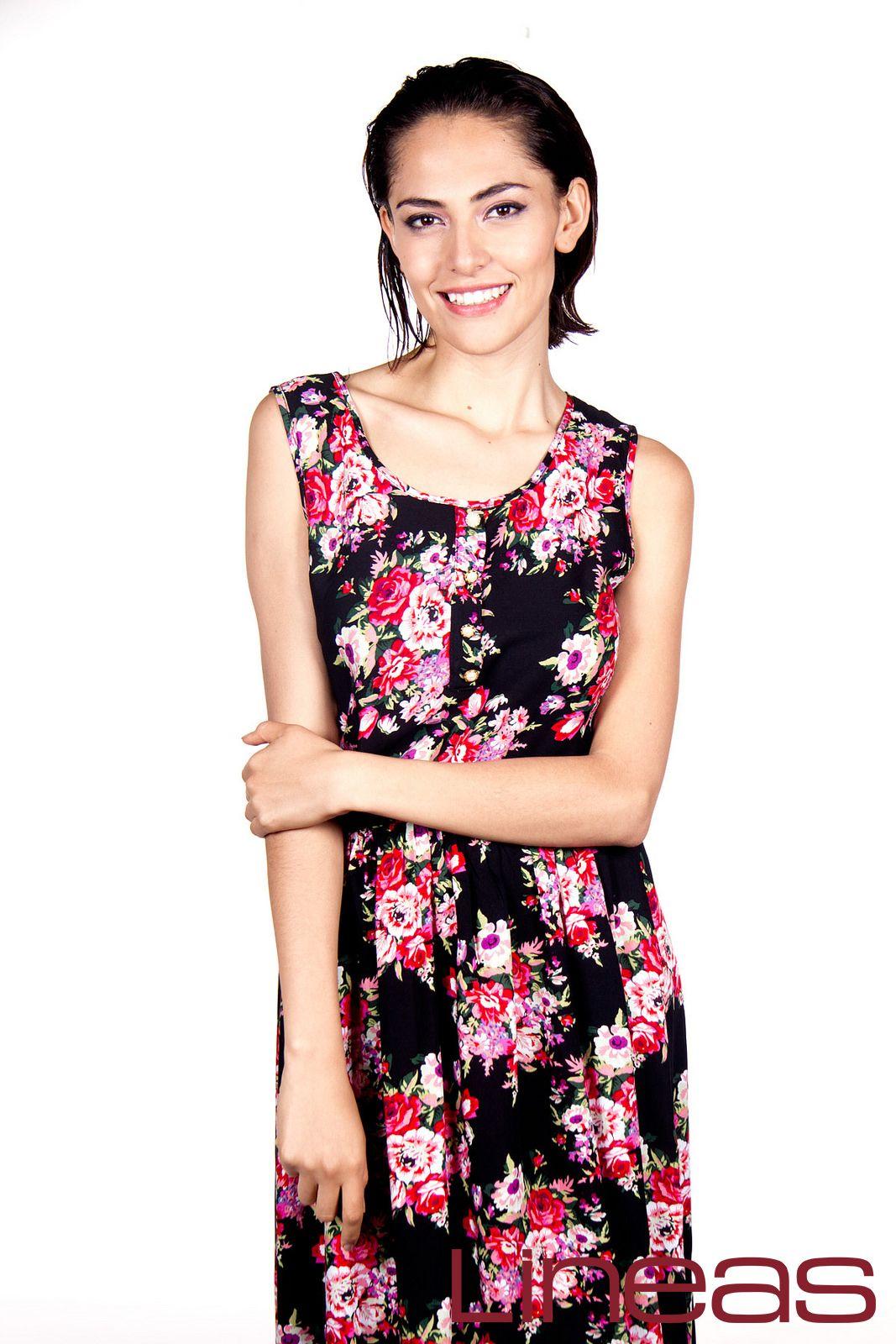 Vestido, Modelo 17521. Precio $200 MXN #Lineas #outfit #moda #tendencias #2014 #ropa #prendas #estilo #primavera #outfit #vestido