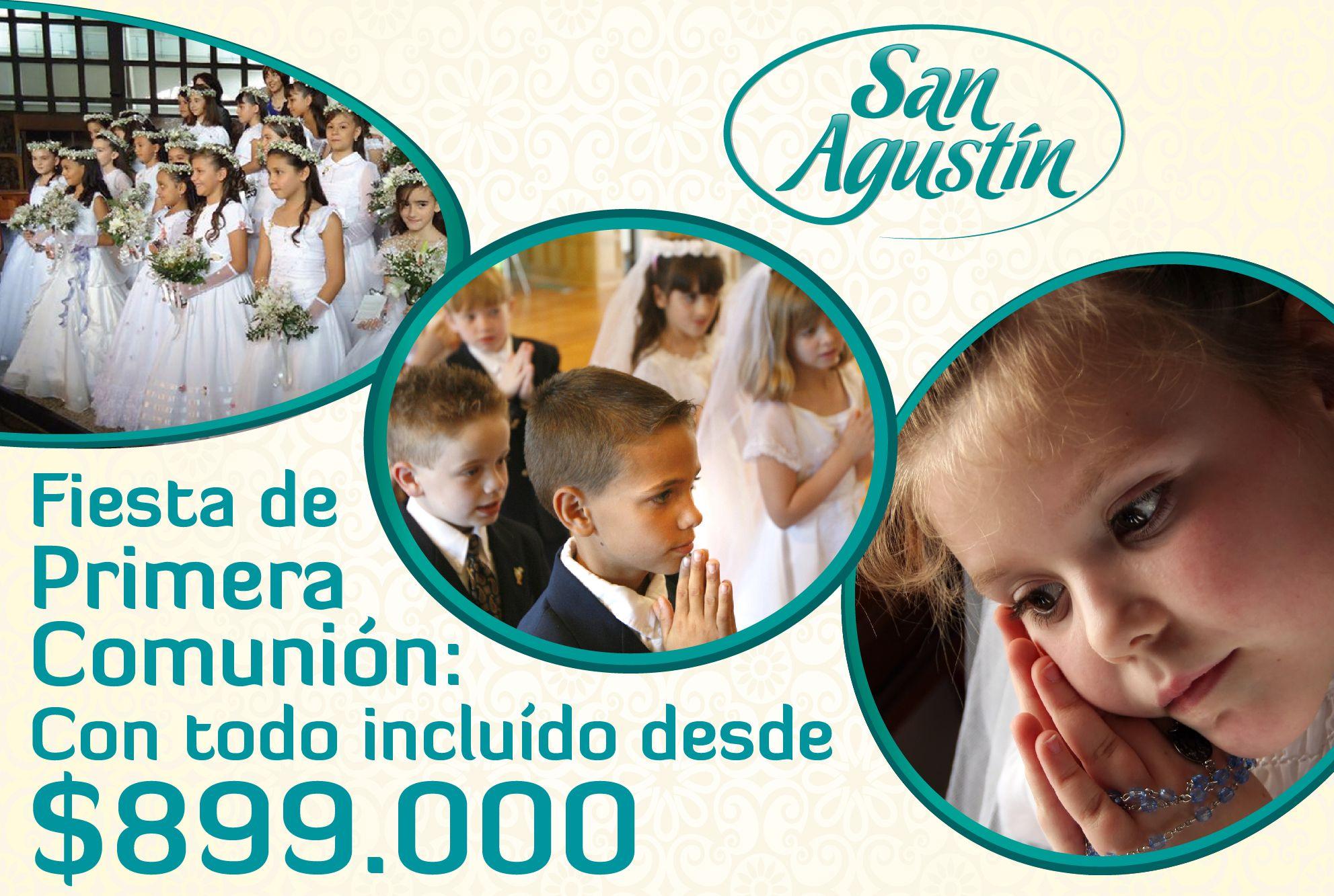 En San Agustín deseamos que en TU GRAN DÍA disfrutes MOMENTOS QUE RECORDARÁS TODA LA VIDA... Somos el mejor aliado para celebrar TU FIESTA DE PRIMERA COMUNIÓN.  http://www.tusanagustin.com/primeras-comuniones-medellin/#.VxZdejCLTIU  #organizaciondeeventos #matrimonios #bodas #decoracion #primerascomuniones #fiestadequince #quinceañeras #especialistasenbodas #solucionesintegrales #tendenciasenmatrimonios #fiestas #fiestasmedellin #tendencias #novias #primeracomunion #fiestasinfantiles