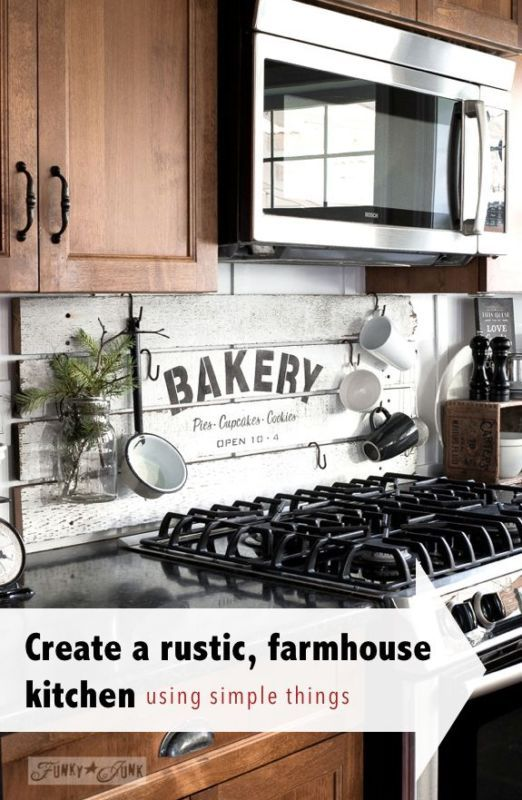 Create a rustic, farmhouse kitchen with these easy ideas! | Cocinas ...