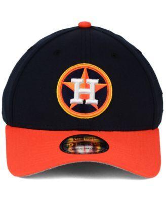 New Era Houston Astros Core Classic 39THIRTY Cap - Navy/Orange L/XL