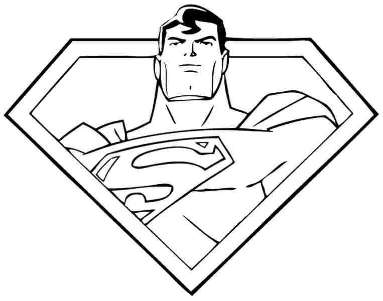 printable superhero superman coloring sheets41149jpg 763600