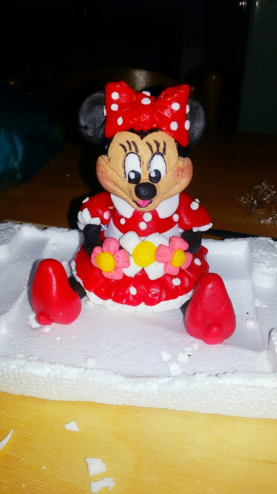 Minnie creata interamente a mano da me in pdz❤