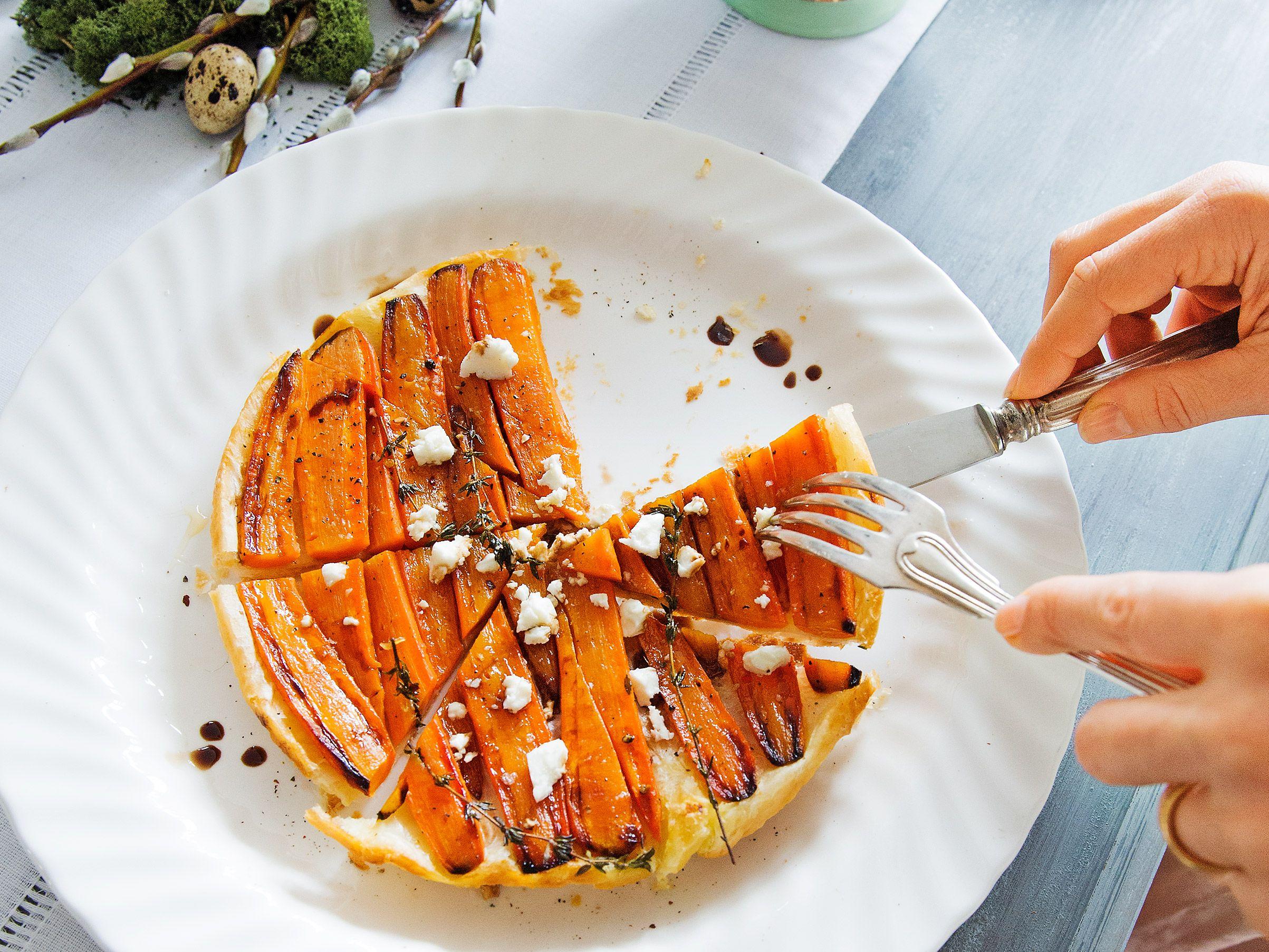 Karottentarte mit Feta