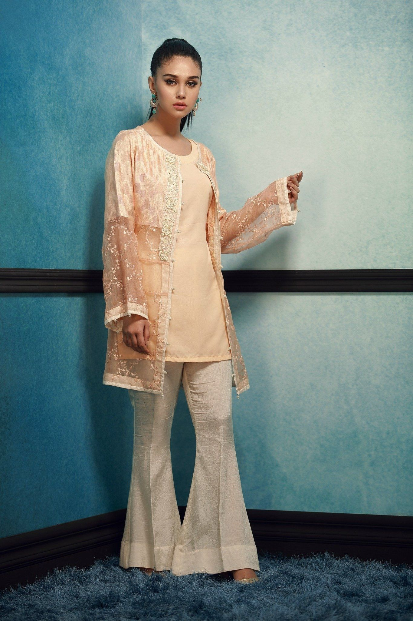 4b42bbb584 Elegant 3 Piece Khadi Net Designer Dress By Phatyma Khan Fall Collection  2017 Available Online For Shopping. Pakistan Pret Wear Linen Collection, ...