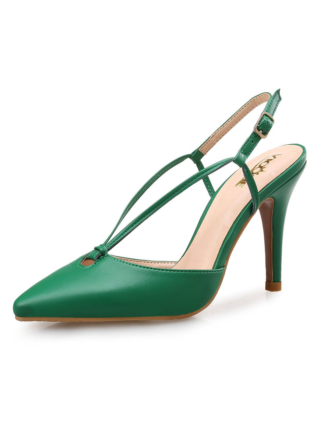 #VIPme #Shoes Green Microfiber Fashion Pointed Toe Lace Up High Heel Pumps. Find more fashion inspiration at VIPme.com
