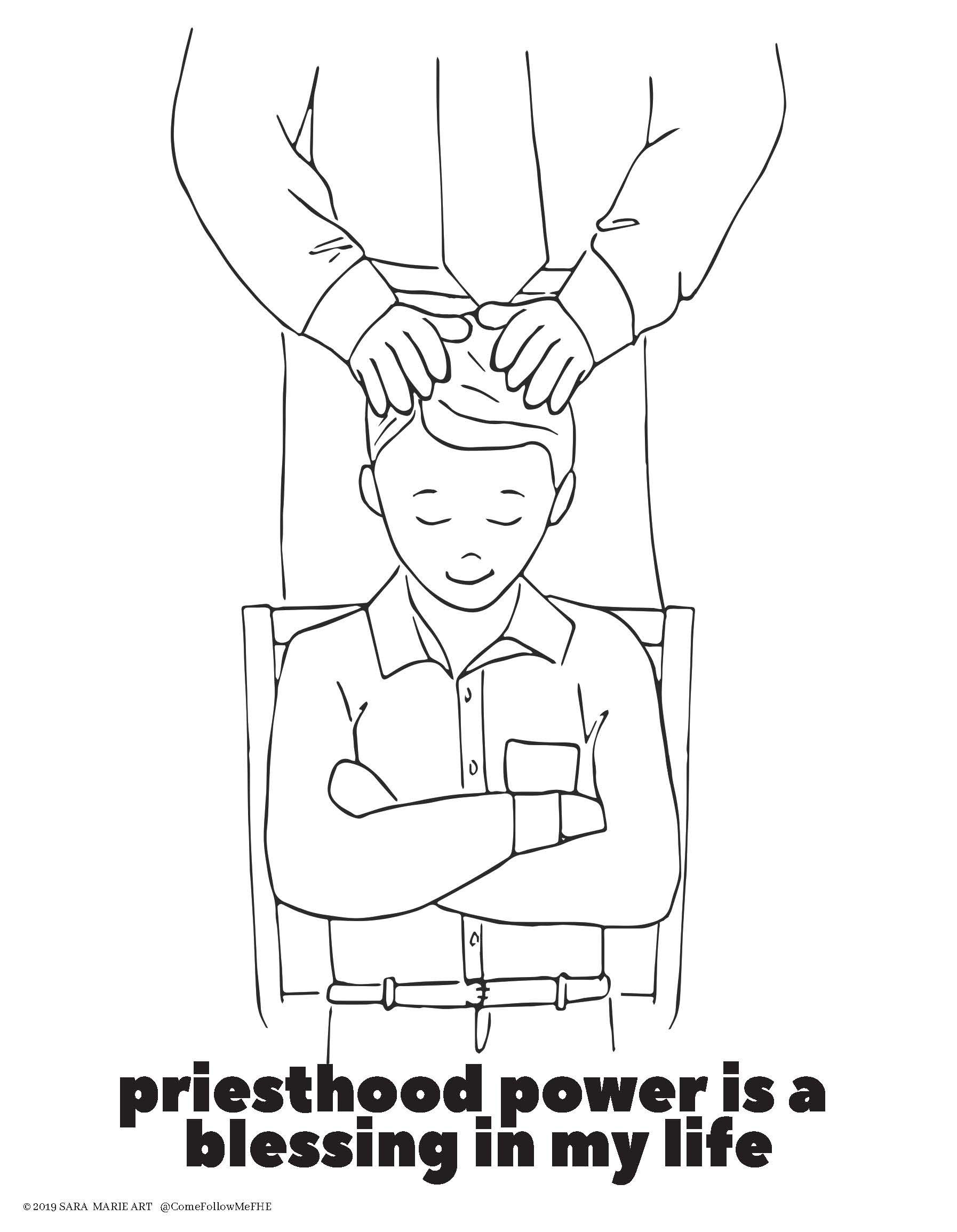 Thou Art The Christ Priesthood Lds Coloring Pages Coloring