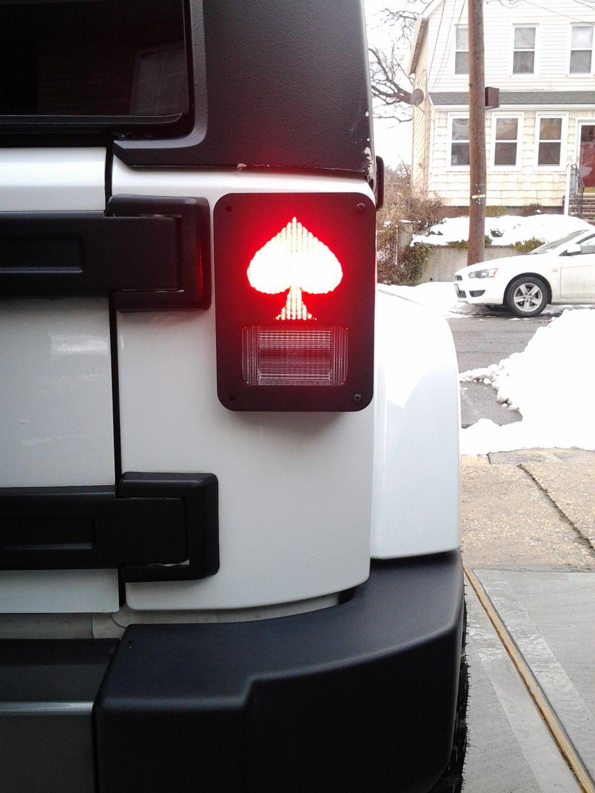Spade jeep tail light guard jeep accessories