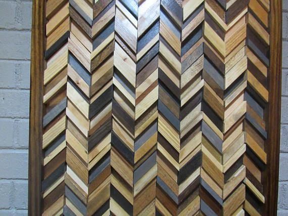 Madera de la pared arte chevron madera arte pared art Pinterest - pared de madera