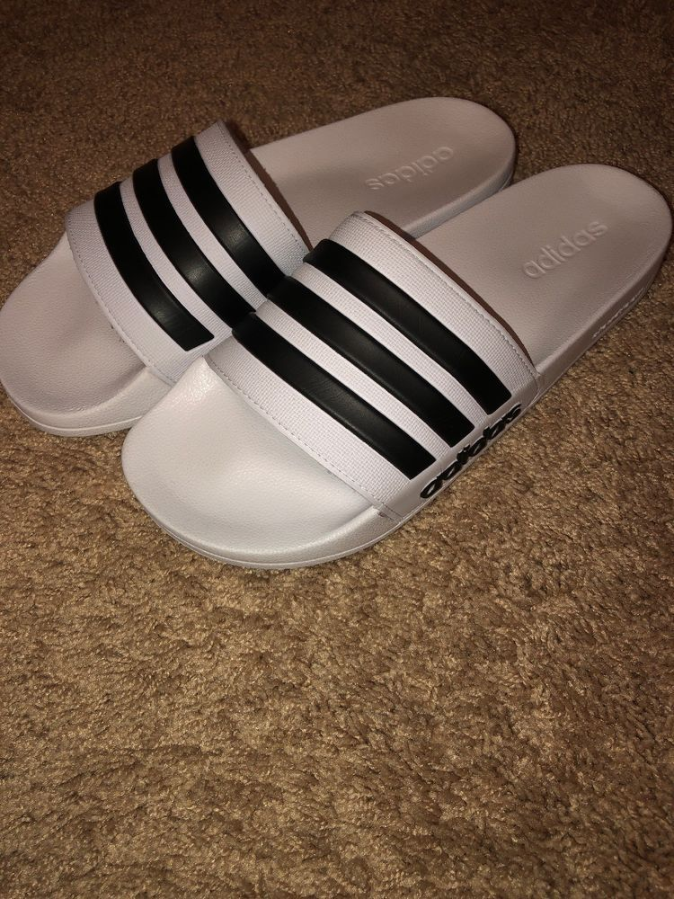 eef9f61eb Men Adidas NEO CF Adilette Slide Sandal AQ1702 White Black White Brand New   fashion  clothing  shoes  accessories  mensshoes  sandals (ebay link)