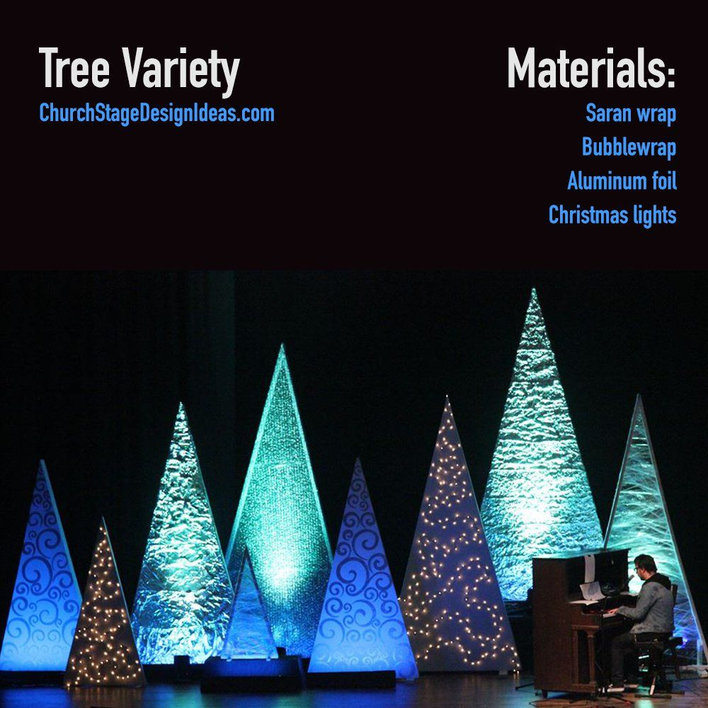 Tree variety church design pinterest stage design for Backdrop decoration for church