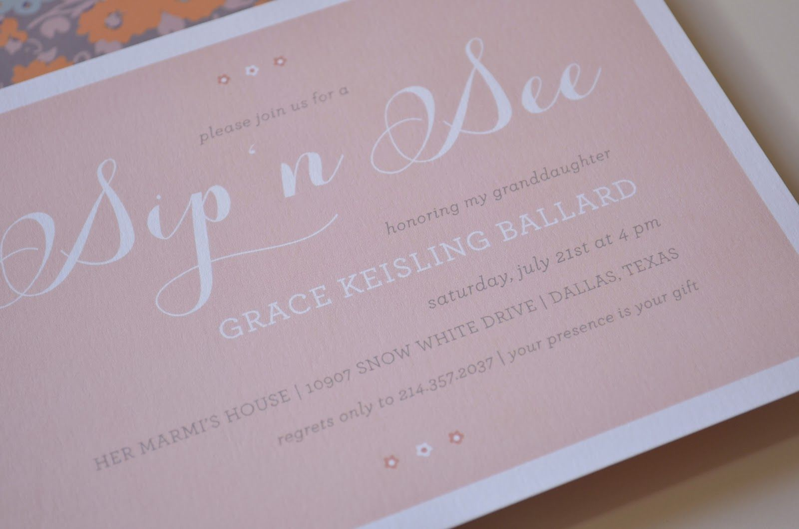 electronic invites for sip and see luncheon invitation templates