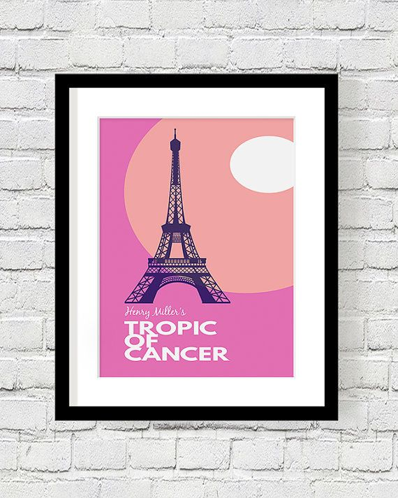 Henry Miller, Tropic of Cancer, Classic Novel, Literature Poster ...
